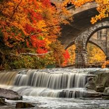 Beautiful Berea Falls In Autumn, Ohio
