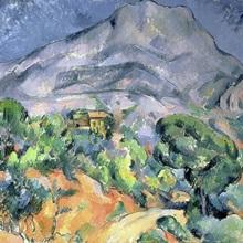 Mont Sainte Victoire, 1900 (oil on canvas)