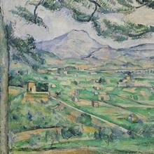 Montagne Sainte Victoire, 1886 87 (oil on canvas)