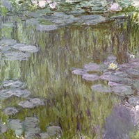 Nympheas at Giverny, 1918 (oil on canvas)