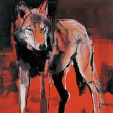 Summer Wolf, 2001 (mixed media on canvas)