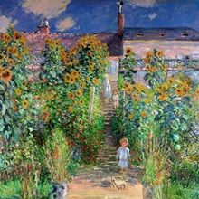 The Artists Garden at Vetheuil, 1880 (oil on canvas)