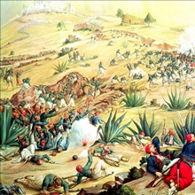 The Battle of Puebla, 5 May 1862 (oil)