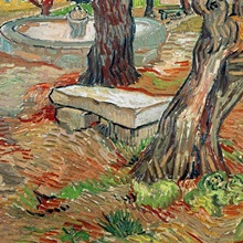 The Bench at Saint Remy, 1889 (oil on canvas)