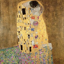 The Kiss, 1907 08 (oil on canvas)