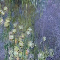 Waterlilies: Morning, 1914 18 (centre left and rigth section) (oil on canvas)
