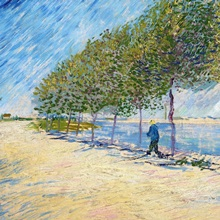 Langs De Seine (Along The Seine) By Vincent Van Gogh