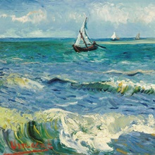 Seascape Near Les Saintes-Maries-De-La-Mer By Vincent Van Gogh