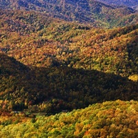 Autumn view of Appalachian Mountains, North Carolina