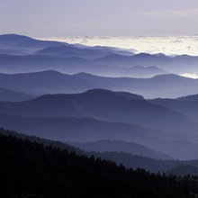 Great Smoky Mountains National Park, Southern Appalachian Mountains at dawn