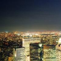 Manhattan, NYC, Midtown Manhattan view from Rockefeller Center Rooftop