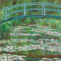 The Japanese Footbridge, by Claude Monet, 1899