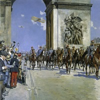 Victory Parade, on July 14, 1919, By Francois Flameng, World War I, French painting