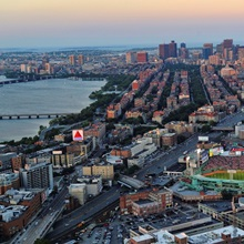 Fenway Park as the Boston Red Sox play the Detroit Tigers on July 30, 2012