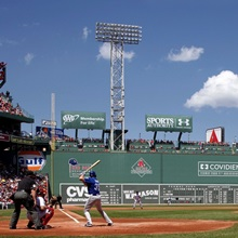 The Green Monster at Fenway park in Boston, Massachusetts, home of the Red Sox