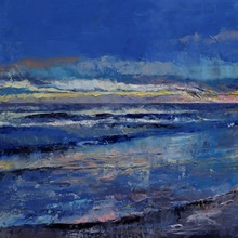 Midnight Blue Seascape