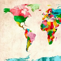 World Map Watercolors