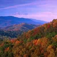 Appalachian Mountains ablaze with fall color Great Smoky Mountains National Park