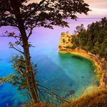 Castle Rock overlooking Lake Superior, Pictured Rocks National Lakeshore, Michigan