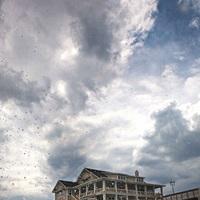 Cloudy skies along the outer banks of North Carolina