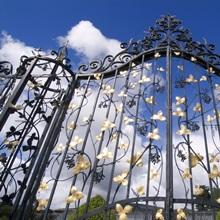 Gates to the Italian garden at Powerscourt, Wicklow