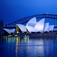 Harbor and opera house, Sydney, Austalia