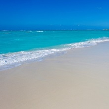 Perfect paradise white sand beaches and the blue Caribbean Sea