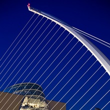Samuel Beckett Bridge and National Conference Centre in Dublin