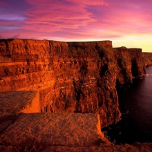 Sunset at Cliffs of Moher, County Clare, Ireland