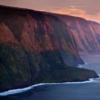The cliffs above Waipi'o Bay at sunrise