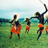 Tutsi men recall days of glory in an exuberant dance