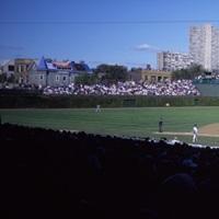Baseball match in progress Wrigley Field Chicago Cook County Illinois