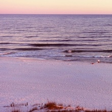 Beach at sunset, Gulf of Mexico, Orange Beach, Baldwin County, Alabama