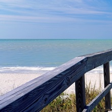 Boardwalk on the beach, Gasparilla Island, Florida