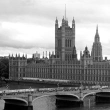 Bridge across a river, Westminster Bridge, Big Ben, Houses of Parliament, City Of Westminster, London, England