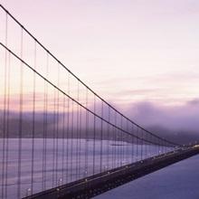 Bridge across the sea, Golden Gate Bridge, San Francisco, California,
