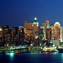 Buildings at the waterfront, Manhattan, New York City, New York State