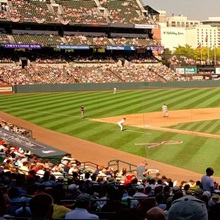 Camden Yards Baseball Game Baltimore MD