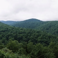 Clouds over mountains, Blue Ridge Mountains, Asheville, Buncombe County, North Carolina