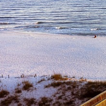 High angle view of a beach, Gulf of Mexico, Orange Beach, Baldwin County, Alabama