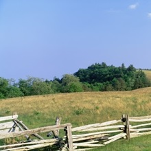 Highway passing through a landscape, Milepost 235, Blue Ridge Parkway, North Carolina