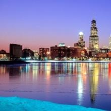 Illinois, Chicago, night