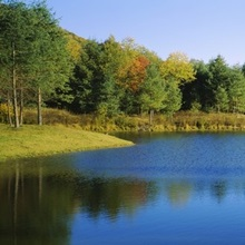 Lake on a golf course, The Raven Golf Club, Showshoe, West Virginia