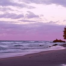 Michigan, Keweenaw Peninsula, Upper Peninsula, Lake Superior, Panoramic view of a lake