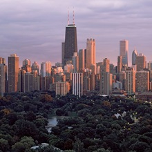 Park in a city, Lincoln Park, Chicago, Cook County, Illinois,