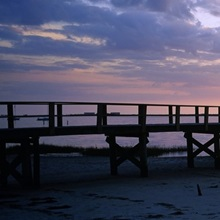 Pier on the beach, Crystal Beach, Florida