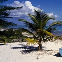Rowboat on the beach, Grand Cayman, Cayman Islands