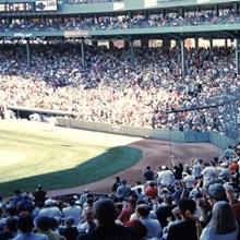 Spectators watching a baseball match in a stadium Fenway Park Boston Suffolk County Massachusetts