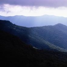 Sunbeams falling on the mountains, Blue Ridge Mountains, North Carolina,