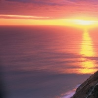 Sunset Nugget Point Lighthouse New Zealand